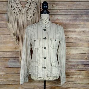 Urban Outfitters | Lux Linen Military Jacket
